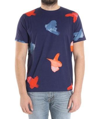 Paul Smith Men's  Blue Cotton T-shirt