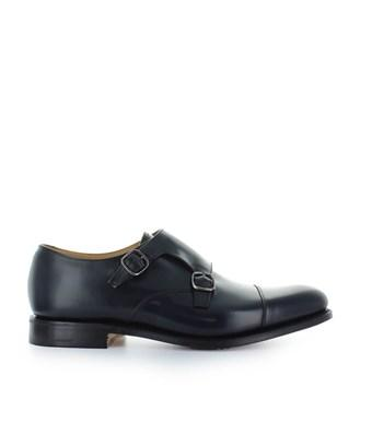 Church's Men's  Blue Leather Monk Strap Shoes