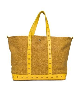 Borbonese Women's  Yellow Leather Tote