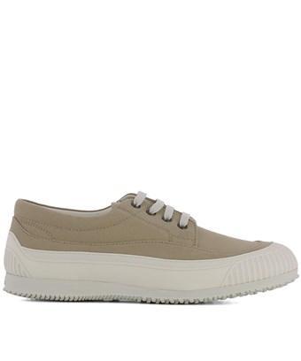 Hogan Men's  Beige Fabric Sneakers In Brown