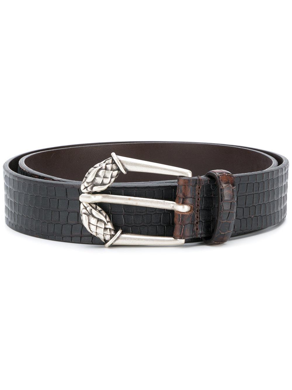 Just Cavalli Crocodile Effect Belt
