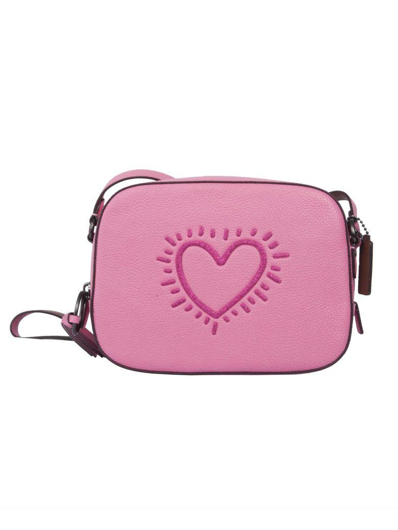 Coach Keith Haring Shoulder Bag In Bpabrightpink