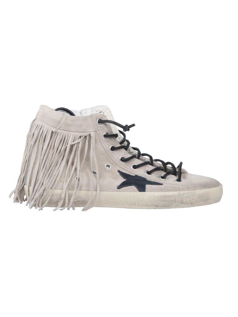 Golden Goose Francy Hi-top Sneakers In Nude & Neutrals