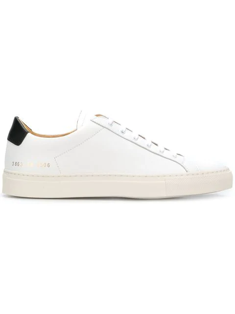 Common Projects Original Achilles Retro Leather Sneakers In White