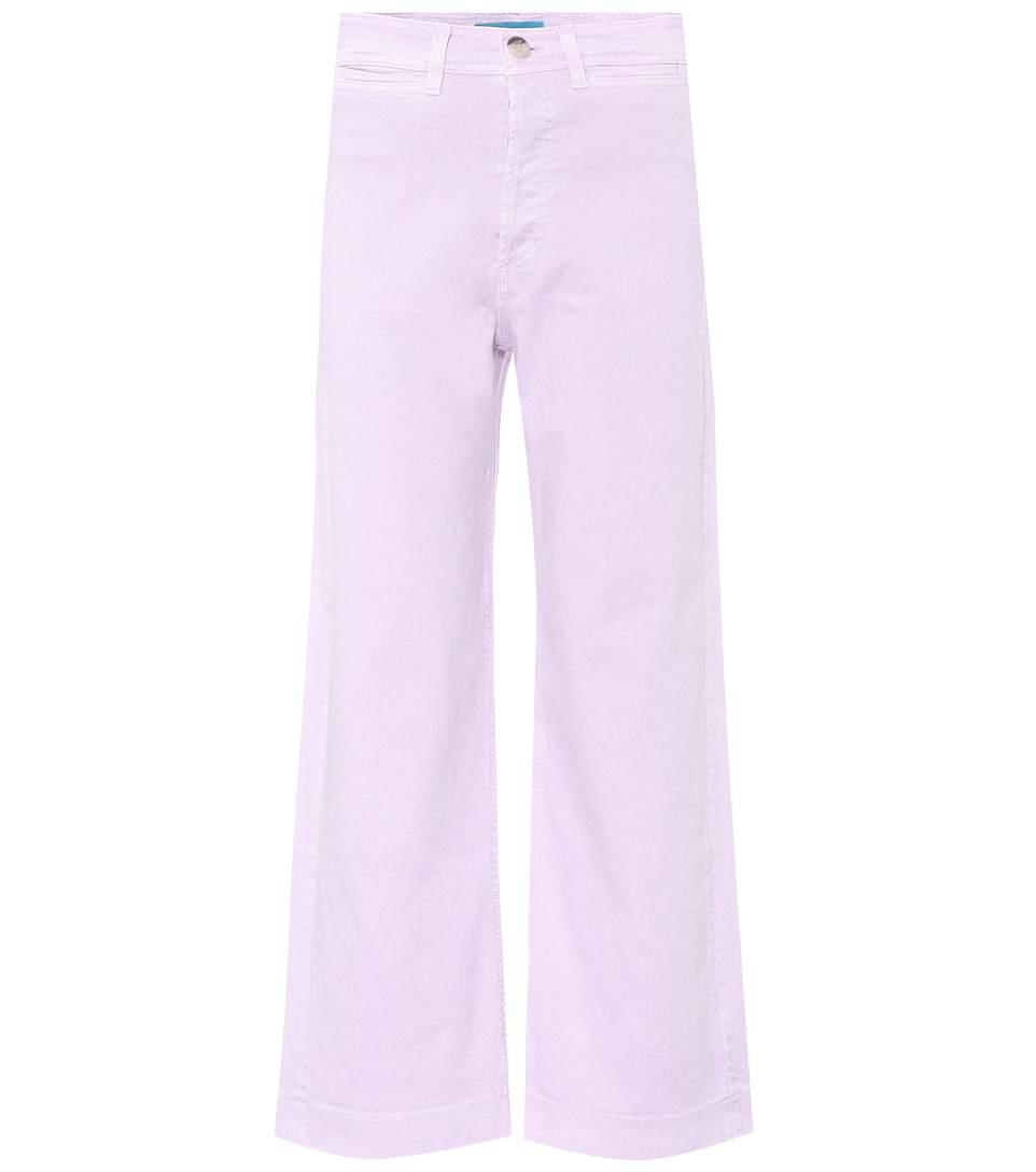 M.i.h Jeans High-waisted Wide-leg Jeans In Purple
