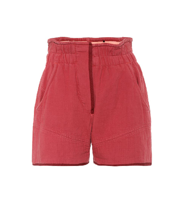 Isabel Marant Esy Shorts In Rosewood In Brown