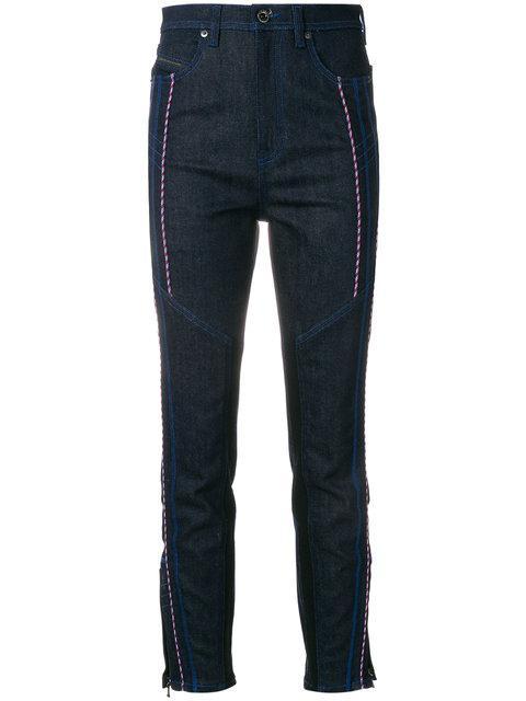 Diesel Black Gold Cord-embellished Straight Leg Jeans - Blue