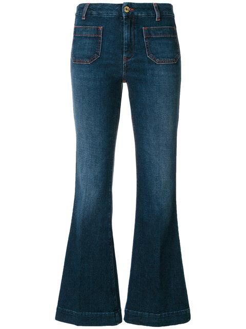 The Seafarer Flat Pocket Cropped Flare Leg Jeans