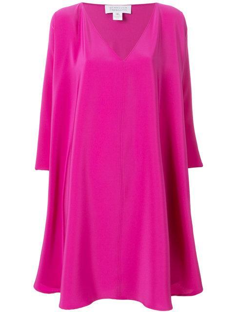 Gianluca Capannolo Floaty Shift Dress In Pink