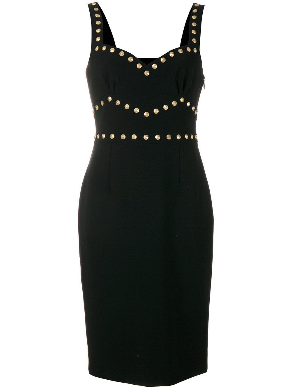 Moschino Studded Sweetheart Dress