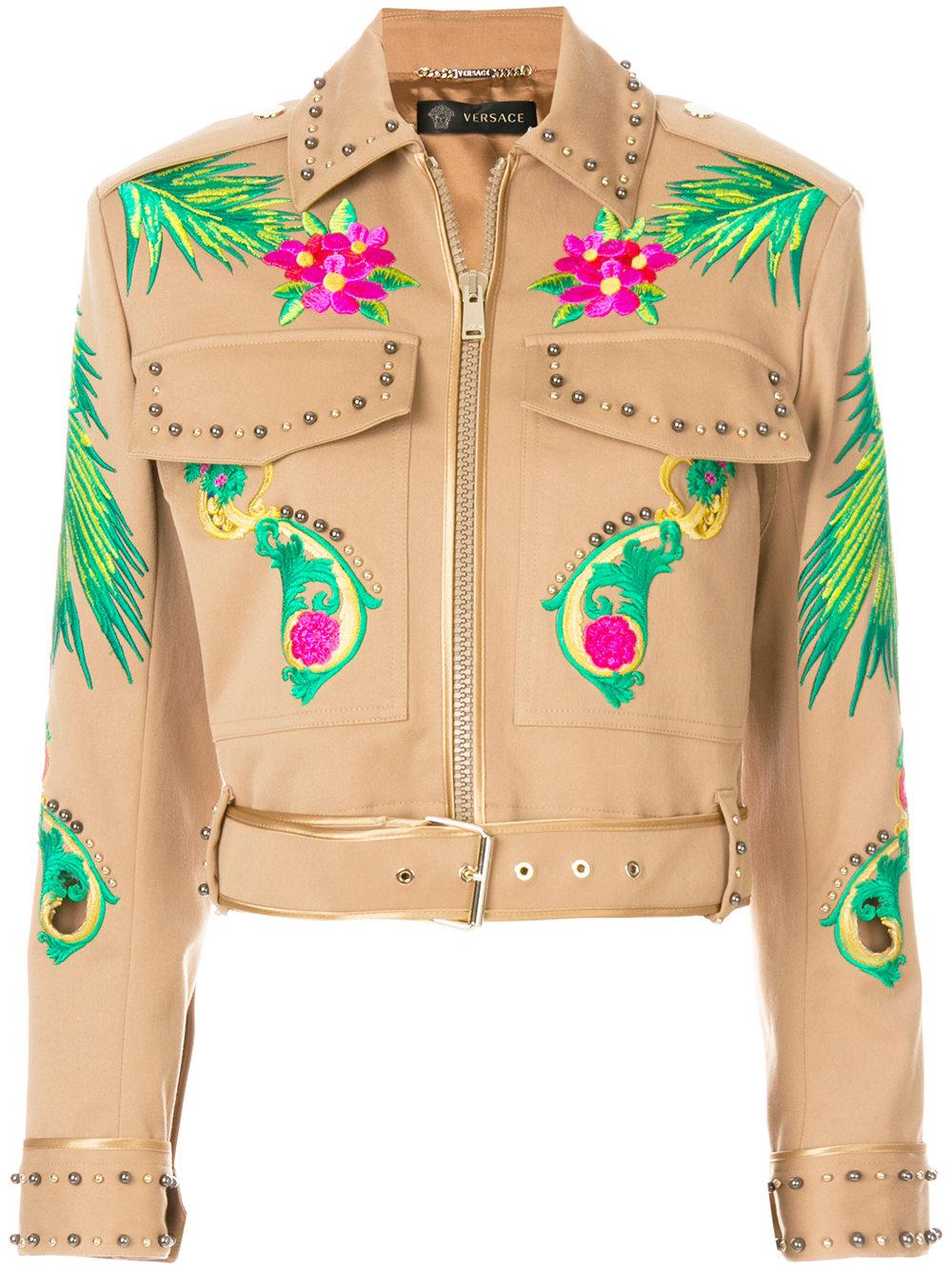 Versace Embroidered Studded Jacket