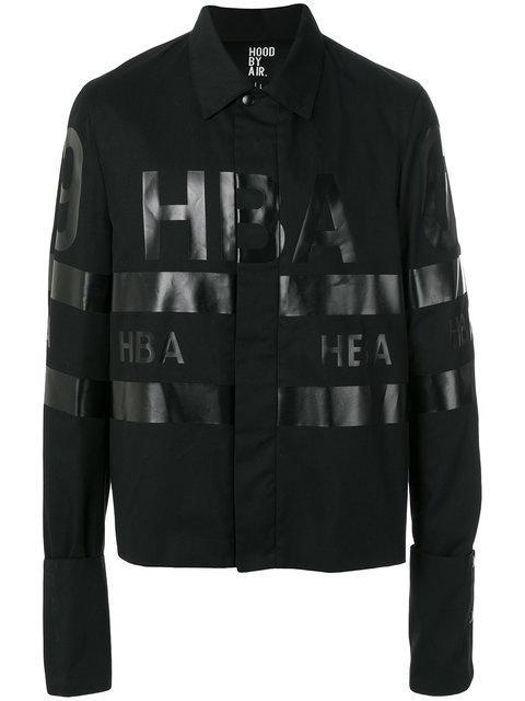 Hood By Air Logo Printed Jacket In Black