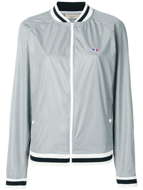 Maison KitsunÉ Raglan Sleeve Baseball Jacket - Grey