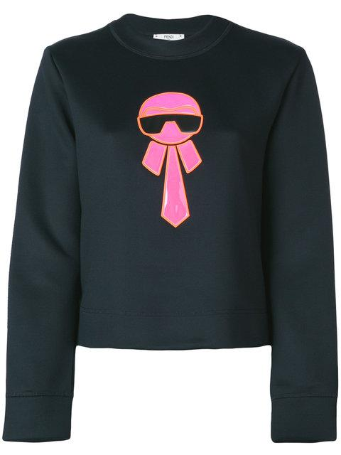 Fendi Karl Motif Sweater In Gme Black