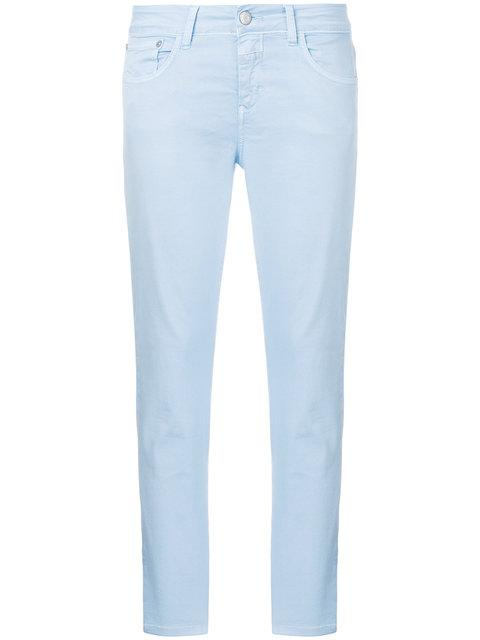 Closed Cropped Skinny Trousers In Blue
