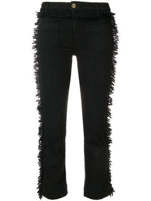 The Seafarer Cropped Trousers With Looped Fringe
