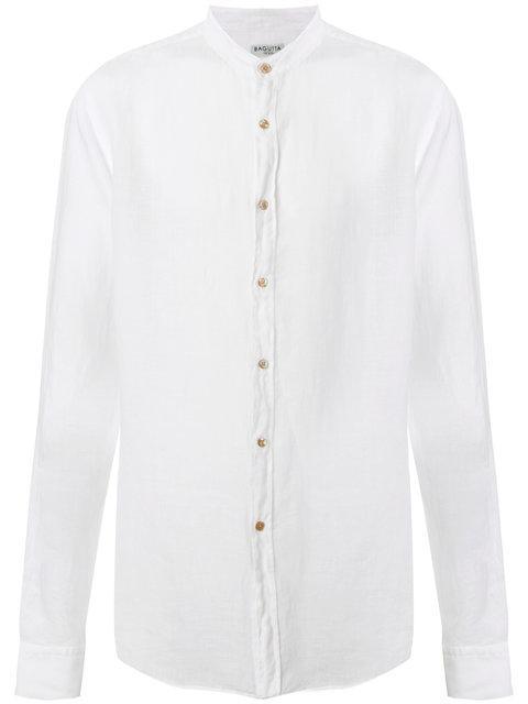 Bagutta Mandarin Neck Shirt In White