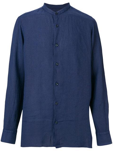 Z Zegna Mandarin Neck Shirt