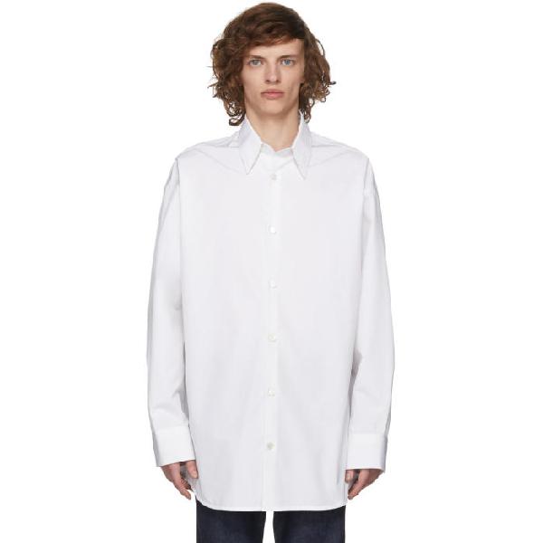Calvin Klein 205w39nyc Dennis Hopper And Sandra Brant Oversized Shirt In 169optwhtla