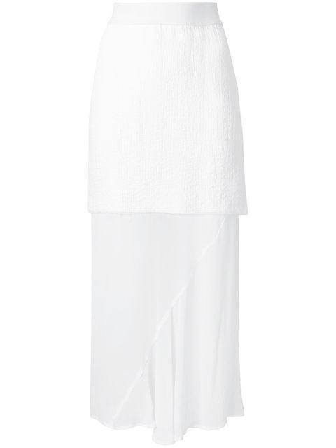 Lost & Found Ria Dunn Long Sheer Skirt - White
