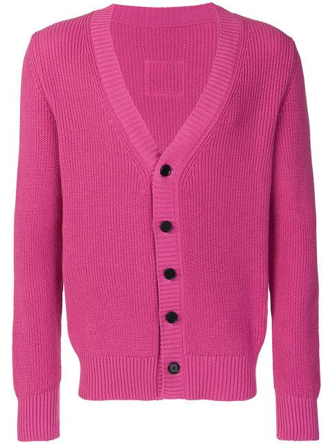 Lc23 Contrast Button Cardigan - Pink & Purple