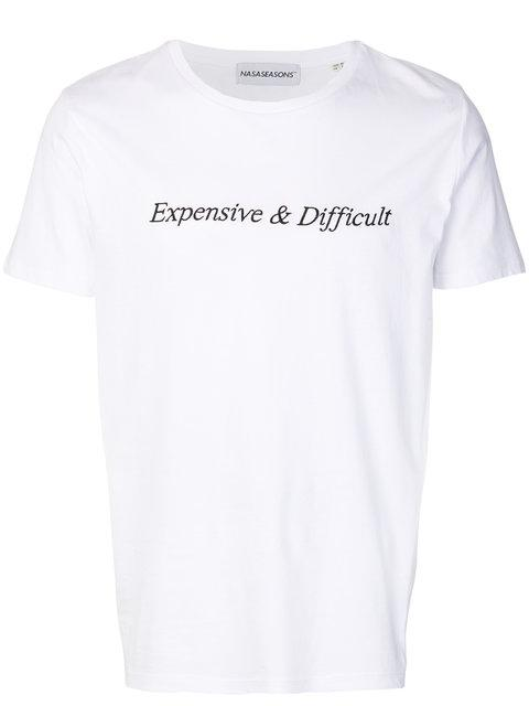 Nasaseasons Expensive And Difficult T-shirt - White