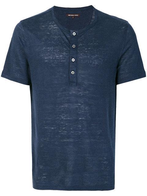 Michael Michael Kors Grandad-collar T-shirt