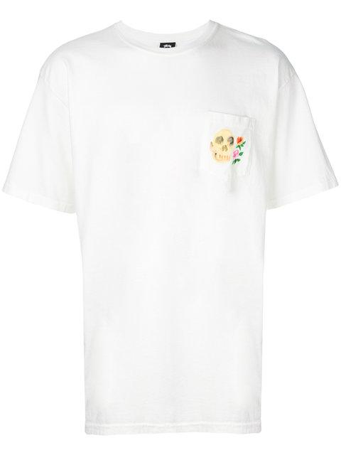 Stussy T-shirt Mit Patch - Weiß In White