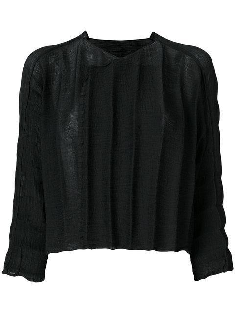 Issey Miyake Textured Stripe Top