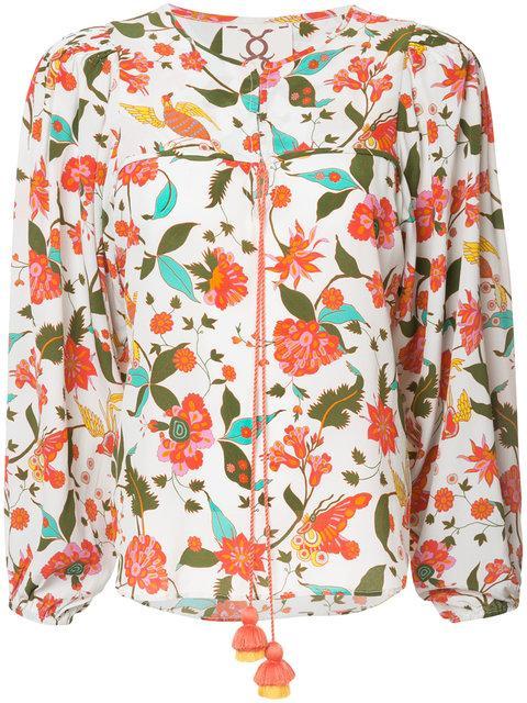 Figue Isadora Floral-print Peasant Blouse - Multicolour
