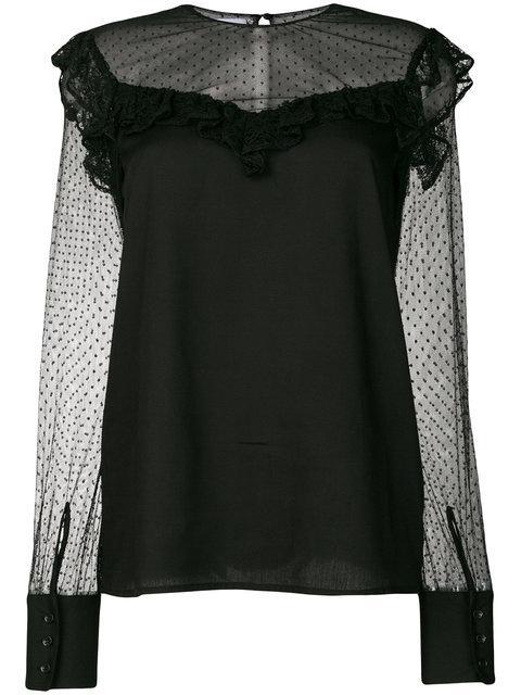 Dondup Plumetti Sleeve Blouse - Black