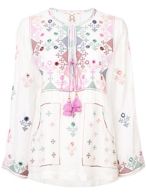 Figue Julie Embroidered Peasant Blouse