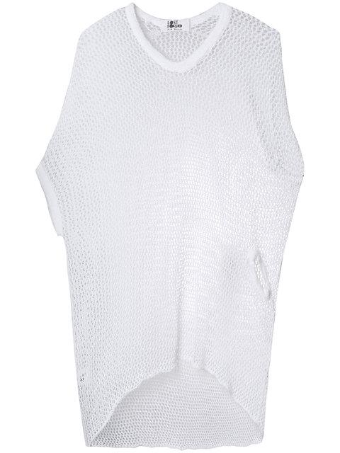 Lost & Found Ria Dunn Curved Hem Knit T-shirt - White
