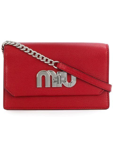 Miu Miu Logo Mini Bag - Red