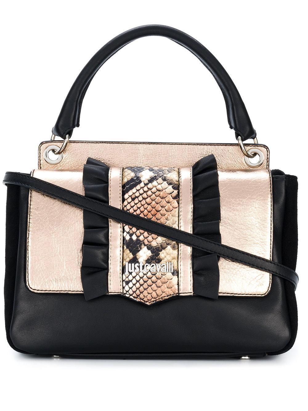 Just Cavalli Snake Effect Tote Bag