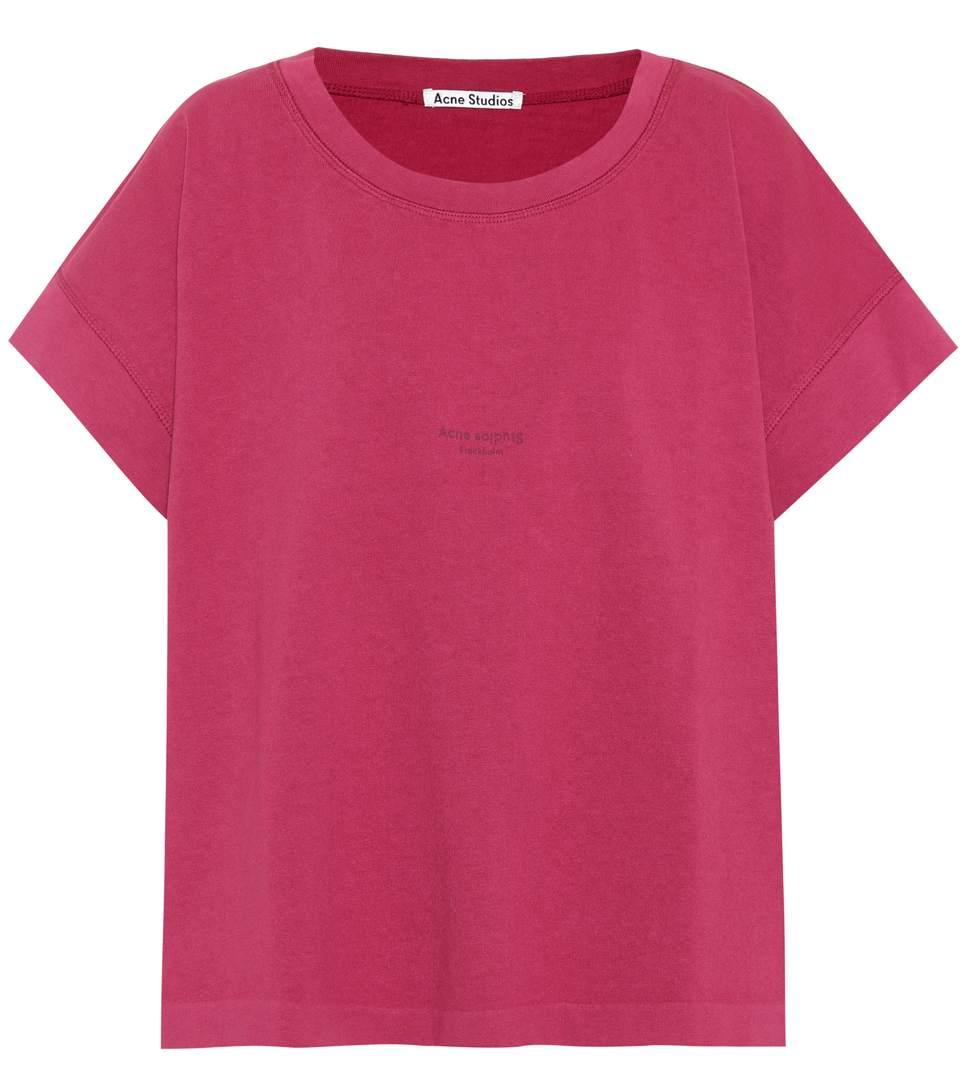 Acne Studios Tohnek Cotton T-shirt In Pink
