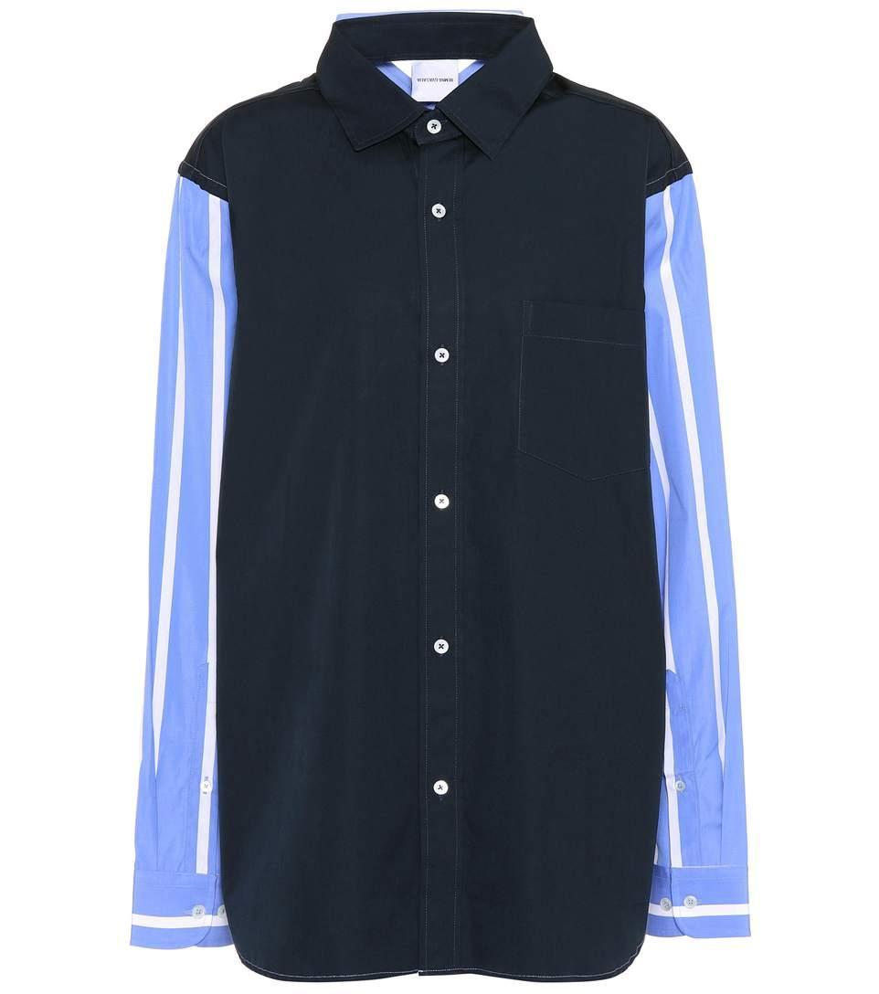 Vetements Cotton Reversible Shirt In Blue