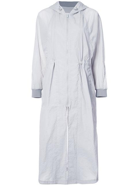 Demoo Parkchoonmoo Long Double Zipped Coat In Grey