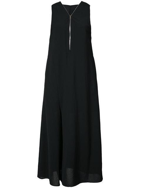 Demoo Parkchoonmoo Zipped Front Wide Leg Jumpsuit In Black