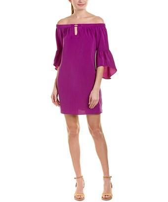 Alice & Trixie Silk Shift Dress In Purple