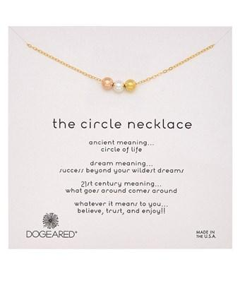 Dogeared Circle Bright Necklace In Nocolor