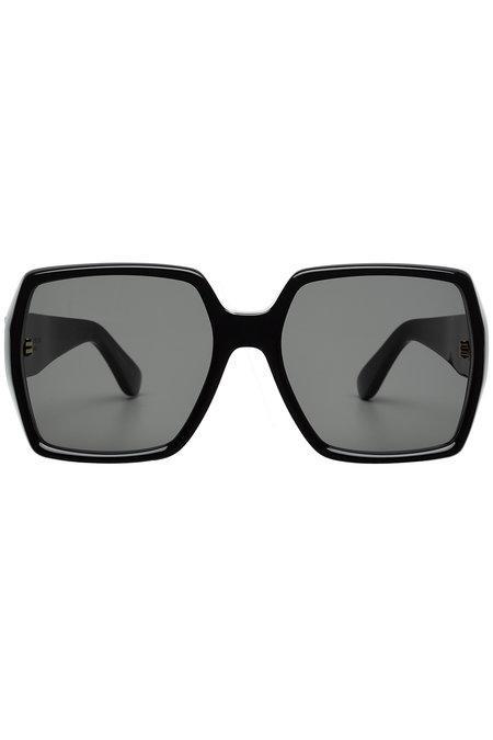 Saint Laurent Square Sunglasses In Black