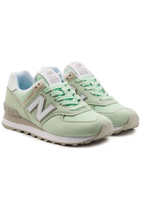 New Balance Wl574 Sneakers With Mesh In Green