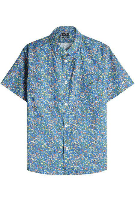 A.p.c. Dana Printed Cotton Shirt In Florals