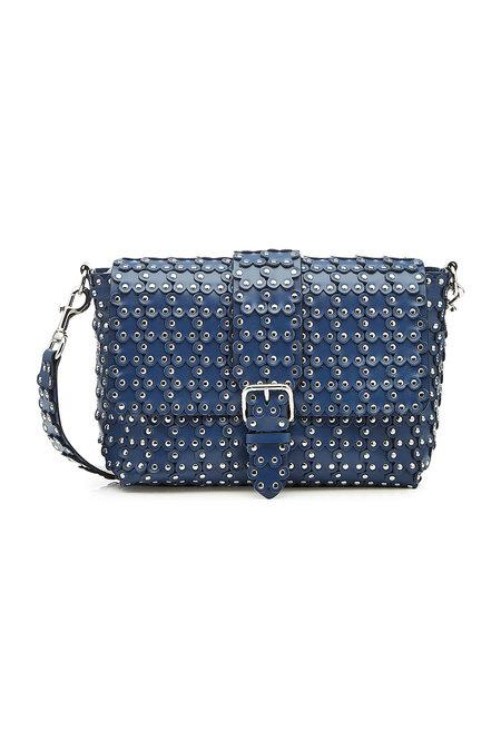 Red Valentino Puzzle Leather Shoulder Bag In Blue
