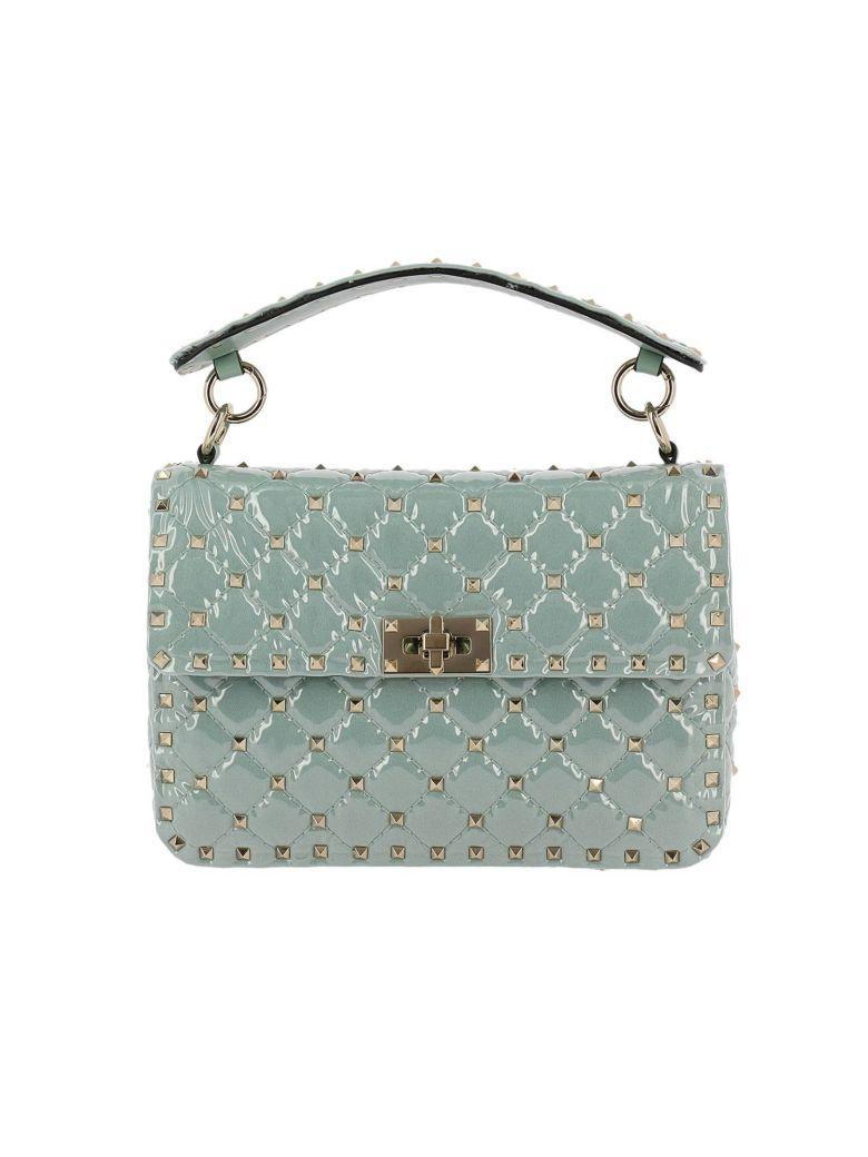 Valentino Garavani Mini Bag Valentino Rockstud Spike Bag In Pvc With Micro Studs And Shoulder Strap In Green