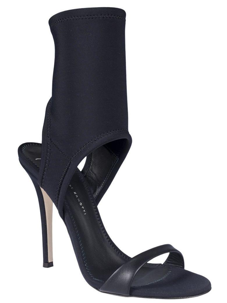 Giuseppe Zanotti Neoprene Sandals In Nero