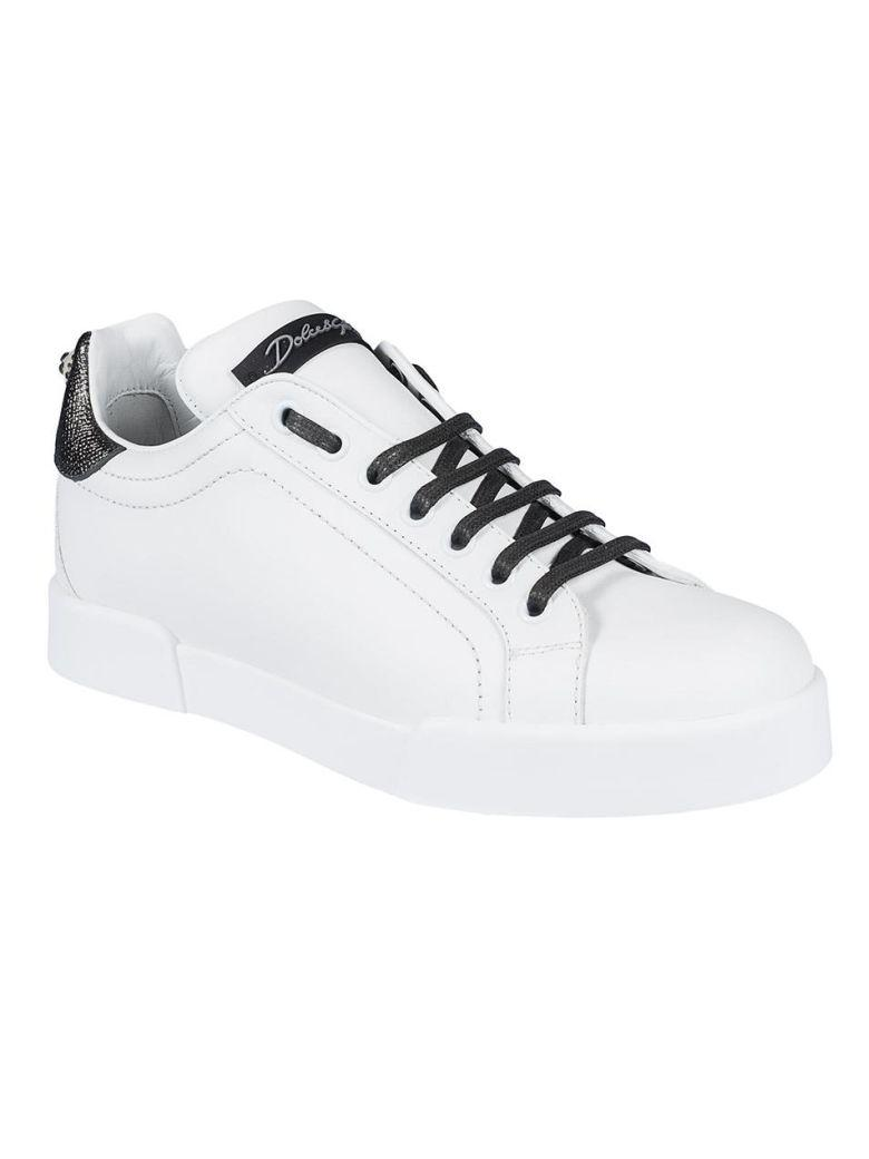 Dolce & Gabbana Classic Design Sneakers In Bianco Argento