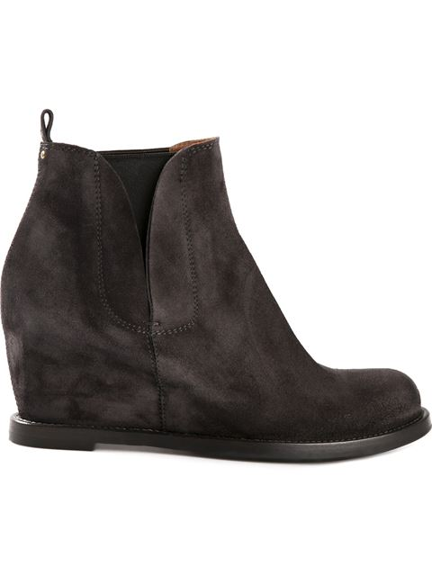 Buttero Wedge Boots - Grey