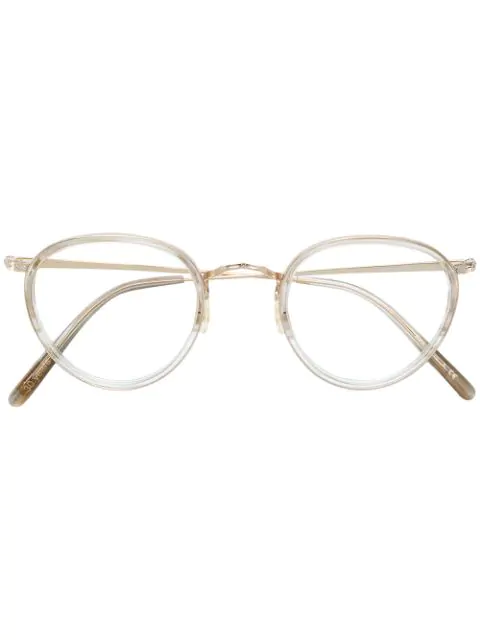Oliver Peoples Mp-2 Round Frame Glasses In Metallic